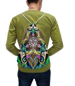 "Рюкзак-мешок с полной запечаткой ""Mandala HD 4"" - узор, ретро, классика, этно, симметрия"