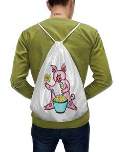"""Рюкзак с полной запечаткой """"Год свиньи"""" - новый год, поросенок, свин, год свиньи, хрюн"""