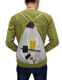"""Рюкзак-мешок с полной запечаткой """"Супрематизм. Живописный реализм футболиста"""" - футбол, картина, живопись, супрематизм, малевич"""