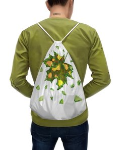 """Рюкзак с полной запечаткой """"Осень близко..."""" - осень, природа, autumn, жёлтые листья"""