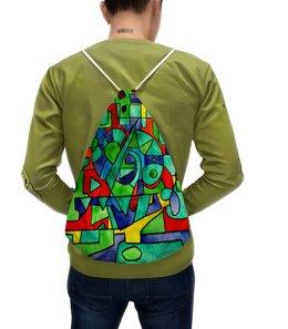 """Рюкзак с полной запечаткой """"3VVU-;JJ87"""" - арт, узор, абстракция, фигуры, текстура"""
