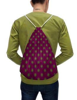 """Рюкзак-мешок с полной запечаткой """"Орнамент с цветами мехенди двусторонний"""" - цветы, орнамент, этнический, индийский, мехенди"""