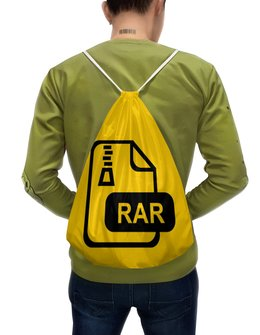 """Рюкзак-мешок с полной запечаткой """"WinRAR"""" - прикольная надпись, по приколу"""