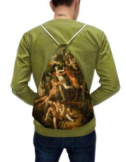 "Рюкзак-мешок с полной запечаткой ""Пан и Сиринга (Никола Пуссен)"" - картина, живопись, мифология, пуссен, классицизм"