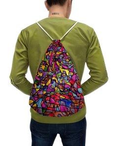 """Рюкзак с полной запечаткой """"rrg`90`90=-="""" - арт, узор, абстракция, фигуры, текстура"""