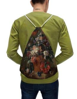"Рюкзак-мешок с полной запечаткой ""Ваза с цветами (Ян ван Хёйсум)"" - цветы, картина, живопись, натюрморт, ян ван хёйсум"