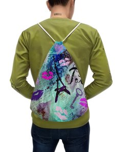 """Рюкзак-мешок с полной запечаткой """"Париж"""" - стиль, мода"""