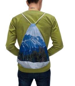 """Рюкзак с полной запечаткой """"Горы."""" - снег, сноуборд, эльбрус, архыз, домбай"""