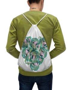 """Рюкзак с полной запечаткой """"Прекрасное сердце """" - сердце, цветы, розы, букет, нежные цветы"""