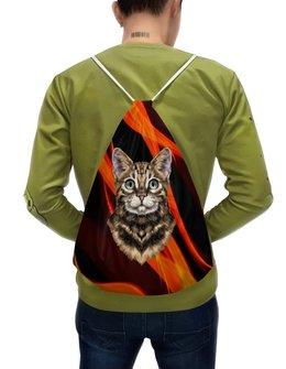 """Рюкзак-мешок с полной запечаткой """"Без названия"""" - кот, животные, котенок, огонь, пламя"""