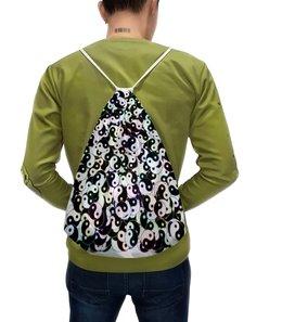 """Рюкзак-мешок с полной запечаткой """"Магический узор Инь Ян"""" - узор, орнамент, азия, абстракция, символ"""