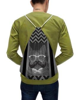 """Рюкзак-мешок с полной запечаткой """"Опа MAN!"""" - кот, man, очки, котэ, усы"""