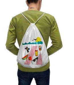 """Рюкзак с полной запечаткой """"Отпуск"""" - лето, фрукты, солнце, море, пляж"""