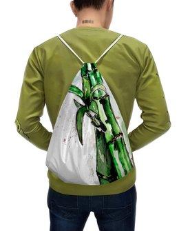 """Рюкзак-мешок с полной запечаткой """"Лови дзен"""" - растения, акварель, скетч, дзен"""