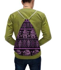 """Рюкзак с полной запечаткой """"Индия"""" - узор, слон, этника, индия, слоны"""
