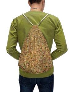 """Рюкзак с полной запечаткой """"Сандал"""" - арт, узор, абстракция, фигуры, текстура"""