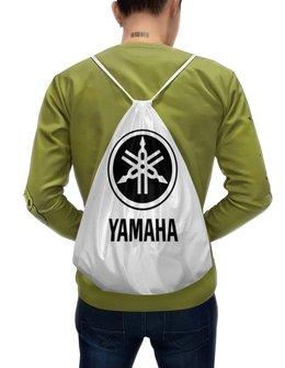 "Рюкзак-мешок с полной запечаткой ""YAMAHA"" - авто, машина, мото, yamaha, ямаха"