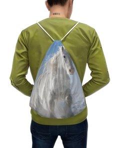 """Рюкзак с полной запечаткой """"Лошадь"""" - лошадь, фотография, животное, конь"""