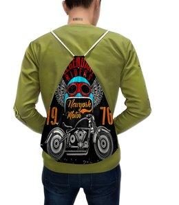 """Рюкзак с полной запечаткой """"Legendary riders"""" - мотоцикл, скорость, гонщик, транспорт, крылья"""