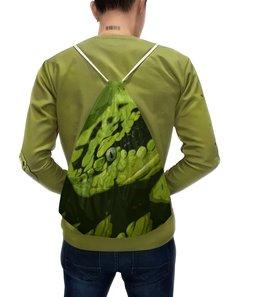 """Рюкзак с полной запечаткой """"Змея """" - змея, зеленый, опасный, ядовитый, гад"""