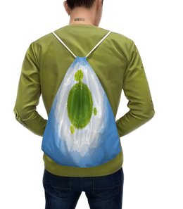 """Рюкзак-мешок с полной запечаткой """"Земля"""" - планета, земля, деревья, природа, трава"""