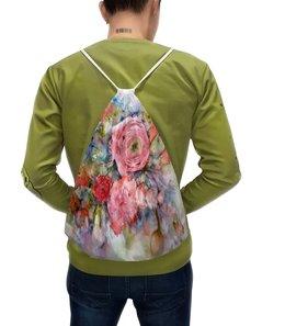 """Рюкзак с полной запечаткой """"Акварельный букет"""" - цветы, розовый, оригинальный, живопись, акварелью"""