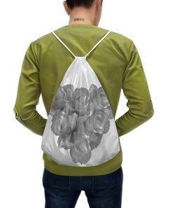"""Рюкзак-мешок с полной запечаткой """"Сердечко из роз """" - сердце, цветы, розы, букет, нежные цветы"""