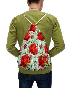 """Рюкзак с полной запечаткой """"Пионы"""" - пионы, розы, цветы, весна, природа"""