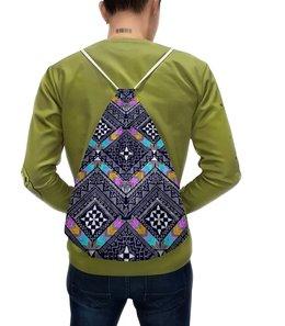 """Рюкзак с полной запечаткой """"Узор этнический"""" - узор, рисунок, цветные, роспись, этнический"""