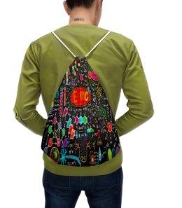 """Рюкзак с полной запечаткой """"Химия"""" - знаки, символы, буквы, химия, формулы"""