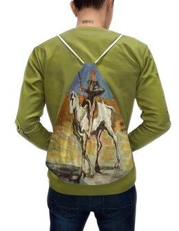 """Рюкзак-мешок с полной запечаткой """"Дон Кихот (картина Оноре Домье)"""" - картина, живопись, литература, домье"""