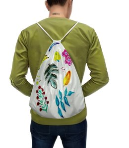 """Рюкзак-мешок с полной запечаткой """"Фрукты"""" - лето, цветы, фрукты, арбуз, тропики"""