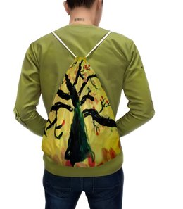 """Рюкзак с полной запечаткой """"Осенняя пора"""" - листья, осень, дерево"""
