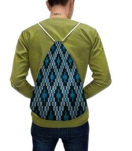 """Рюкзак с полной запечаткой """"Вязаный узор"""" - узор, цветные, ромбы, вязание, вязаный"""