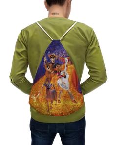 """Рюкзак с полной запечаткой """"Тайна Коко"""" - музыка, мультфильм, дисней, приключения, тайна коко"""