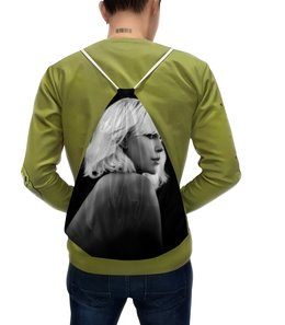 """Рюкзак-мешок с полной запечаткой """"Взрывная блондинка"""" - девушка, секс, girl, кино, шарлиз терон"""