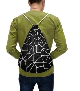 """Рюкзак с полной запечаткой """"Металлическая абстракция"""" - узор, стиль, абстрактный, металлический, карбоновый"""