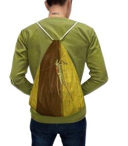 """Рюкзак-мешок с полной запечаткой """"Саранча."""" - насекомое, насекомые, саранча, кузнечик, макро мир"""