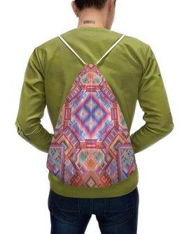 """Рюкзак-мешок с полной запечаткой """" с абстрактным рисунком"""" - узор, фиолетовый, абстракция, фигуры, текстура"""