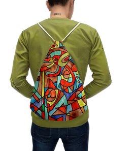 """Рюкзак с полной запечаткой """"VM-MV[=]"""" - арт, узор, абстракция, фигуры, текстура"""