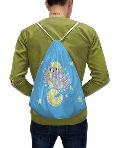 """Рюкзак-мешок с полной запечаткой """"My little pony (Derpy)"""" - мультфильм, mlp, derpy, для детей, мой маленький пони"""