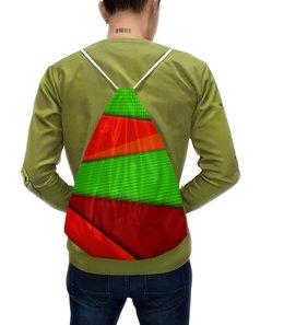 """Рюкзак с полной запечаткой """"Цветные полосы"""" - узор, полосы, краски, текстура, линии"""