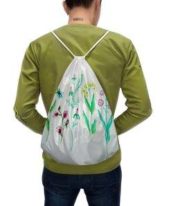 """Рюкзак с полной запечаткой """"Рюкзак Луговые цветы"""" - цветы, луг, лето, листья"""
