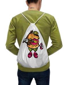 """Рюкзак-мешок с полной запечаткой """"гамбургер"""" - new york, нью-йорк, ny, гамбургер, бургер"""