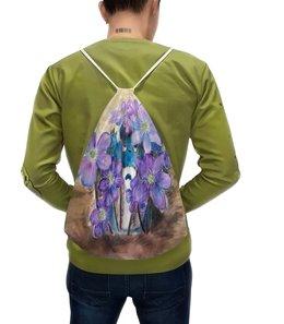 """Рюкзак с полной запечаткой """"Первые цветы"""" - цветы, романтика, весна, тоторо, первоцветы"""