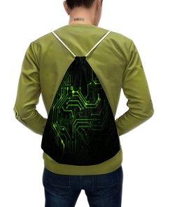"""Рюкзак с полной запечаткой """"Компьютеры"""" - игры, компьютерные, чип, плата, электричество"""