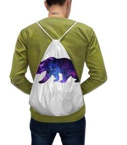 """Рюкзак с полной запечаткой """"Space animals"""" - space, bear, медведь, космос, астрономия"""