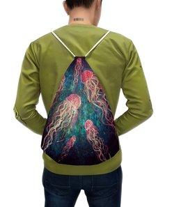 """Рюкзак-мешок с полной запечаткой """"Без названия"""" - живопись, медуза, авторскаяработа"""