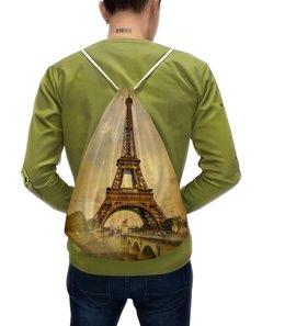 """Рюкзак-мешок с полной запечаткой """"Эйфелева башня"""" - франция, символ, париж, столица"""