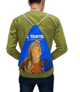 """Рюкзак-мешок с полной запечаткой """"Тоня против всех"""" - спорт, коньки, фигурное катание, фигуристка, тоня хардинг"""